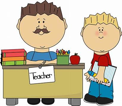 Teacher Clipart Students Greeting Student Male Clip