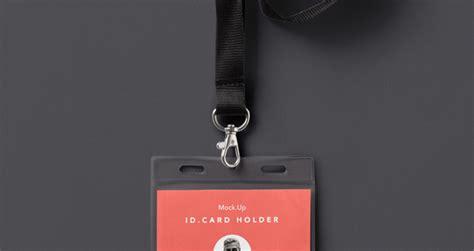 psd identity card holder mockup psd mock  templates pixeden