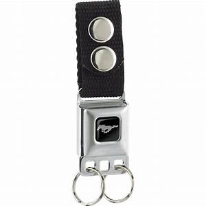 Keychain - Ford Mustang - Black - Buckle-Down