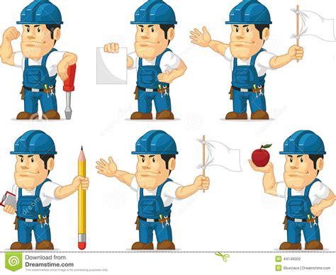 strong technician mascot  stock vector image