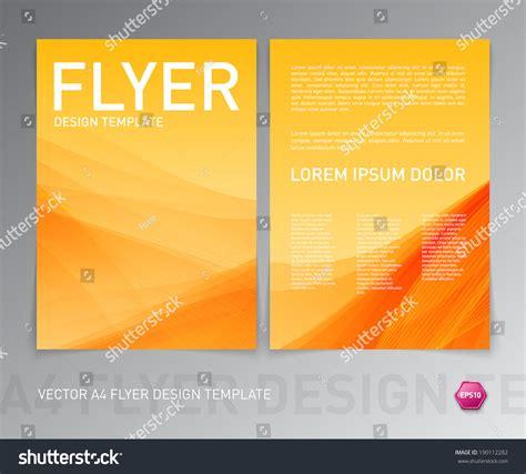 Yellow Brochure Design Vector Millions Vectors Abstract Vector Modern Flyer Brochure Design Template