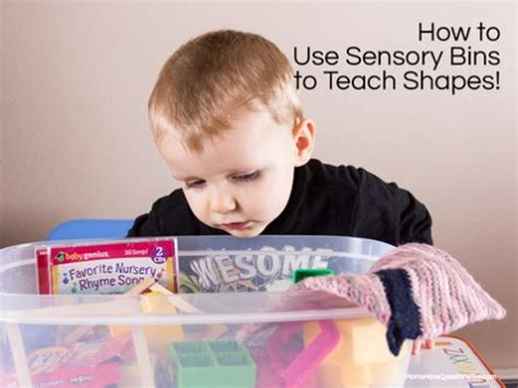 Sensory Bin To Teach Shapes To Toddlers And Preschoolers  Moms Have Questions Too