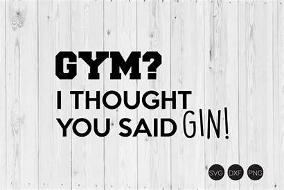 Gin Svg Thought Said Gym Cart