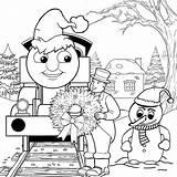 Coloring Thomas Train Pages Easter Preschool Cartoon Popular sketch template
