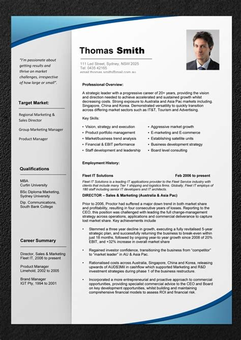 professional resume template resume cv