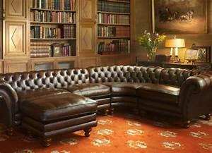 un canape chesterfield le chic et le confort a la maison With tapis ethnique avec canapé chesterfield marron