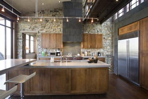 kitchen lighting vaulted ceiling der neue trend 41 ideen f 252 r wandpaneele mit steinoptik 5374