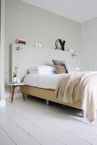 Tete De Lit Bois Blanc : chambre grise et blanc ou beige 10 id es d co pour choisir ~ Teatrodelosmanantiales.com Idées de Décoration