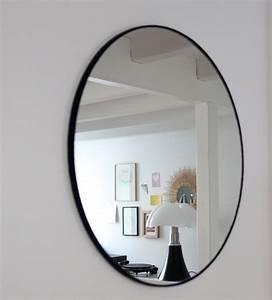 Miroir Rond 50 Cm : miroir rond en feutre basile design fran ais ~ Dailycaller-alerts.com Idées de Décoration