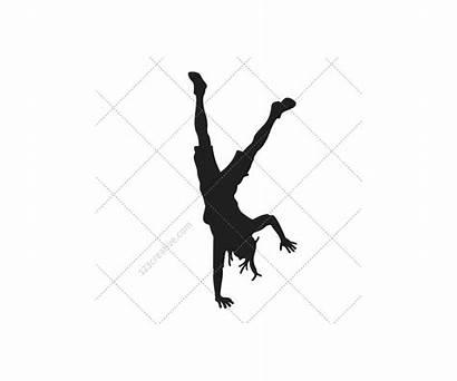 Dancer Hop Hip Silhouette Silhouettes Female Vectors