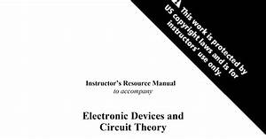Electronic Devices And Circuit Theory  10th Edition