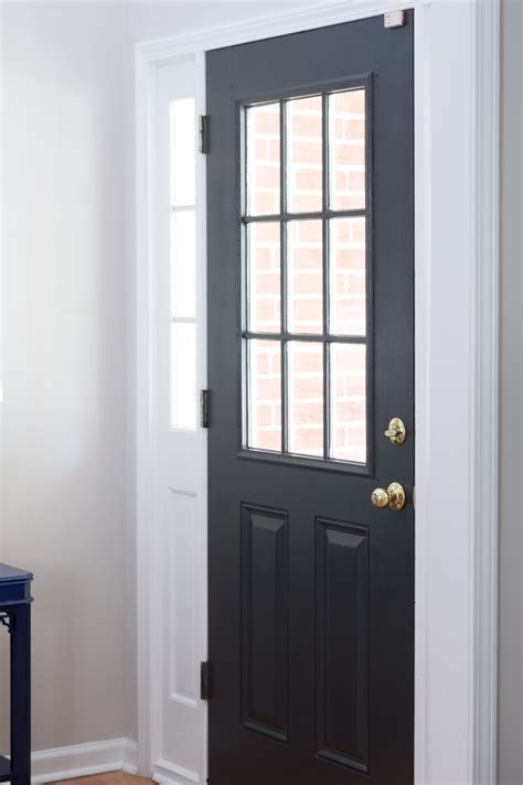 front door painted black sherwin williams iron ore the