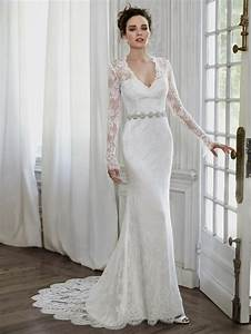 40 gorgeous lace sleeve wedding dresses the best wedding With long sleeve sheath wedding dress