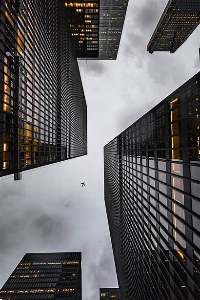 Bottom Buildings Airplane Skyscrapers Building Architecture Architectural