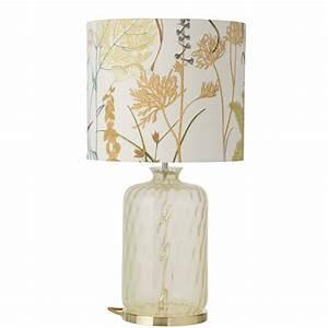Dänische Design Leuchten : glas tischlampe mit floralem stoffschirm ~ Markanthonyermac.com Haus und Dekorationen