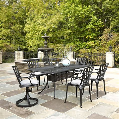 home styles largo 7 piece patio dining set with umbrella