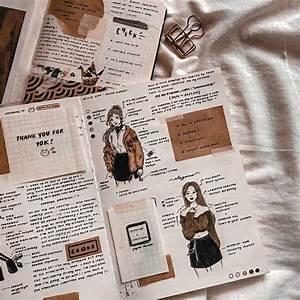 journal aesthetic brown grunge beige scrapbook