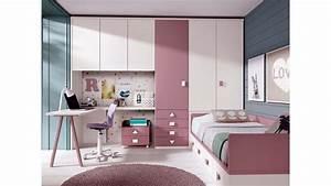 Bureau Ado Fille : chambre ado fille avec bureau design glicerio so nuit ~ Melissatoandfro.com Idées de Décoration