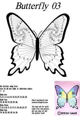 butterfly  iris paper folding iris folding iris