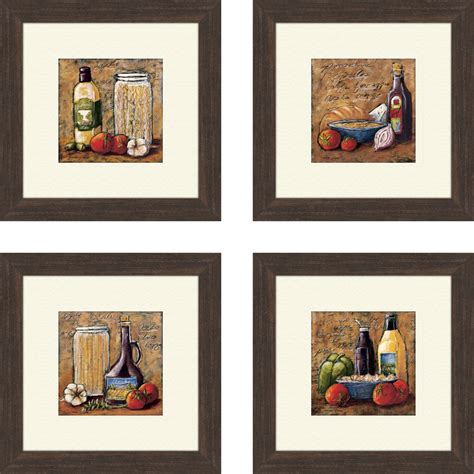 Wayfair Kitchen Wall Decor by Pro Tour Memorabilia Rustic Kitchen Framed Set Of 4