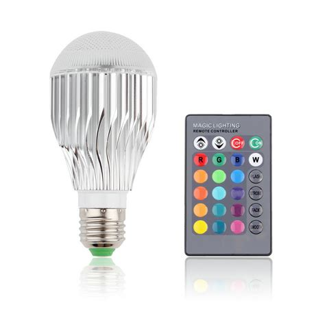 9w e27 multi color change rgb led light bulb l with