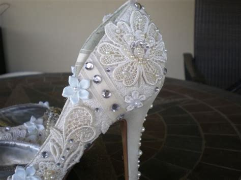 shabby chic wedding shoes my diy wedding shoes weddingbee photo gallery