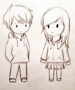 Drawings Of Cute Couples How To Draw Cute Couple In 2 ...