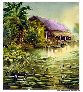 Image Gallery indian landscape art