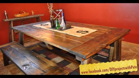 How to build a Farmhouse Table   The Most Complete Video