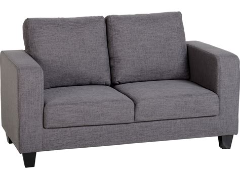 Fabric Settees And Sofas by Seconique Tempo 2 Seater Sofa In A Box Grey Fabric