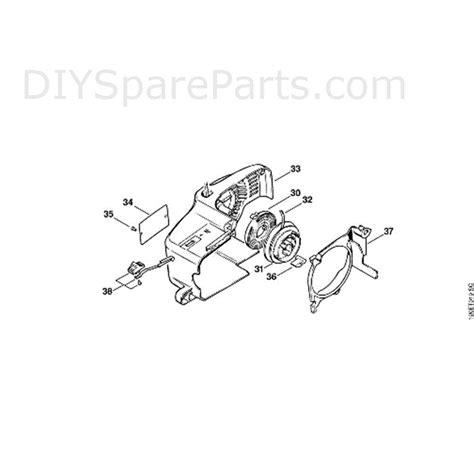 Stihl 011 Chainsaw 011ave Parts Diagram J Rewind Starter