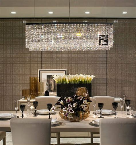 Chandelier For Room by Contemporary Luxury Rectangular Linear Island Dining Room