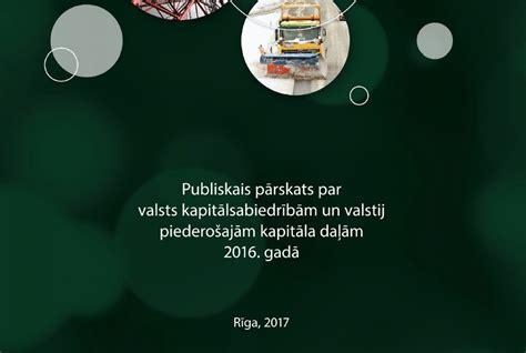 Publisko ikgadējo pārskatu par valsts kapitālsabiedrību ...