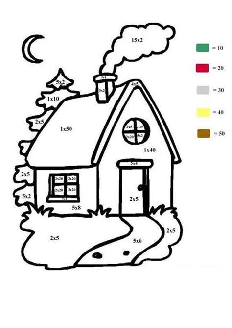 Haus Ausmalen Nach Zahlen Zum Ausmalen Dehellokidscom