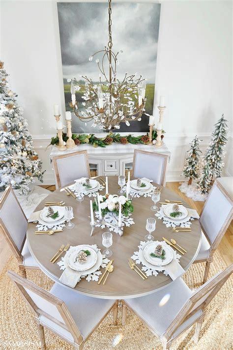 Rustic Glam Christmas Dining Room  Sand And Sisal