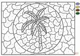 Palm Coloring Tree Number Pages Printable Supercoloring Christmas Trees Printables Numbers Adult Landscape Template Animals Medium Nature Tahiti Circle Rural sketch template