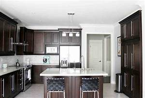 Dark Maple Kitchen Cabinets - Home Furniture Design