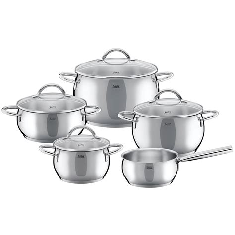 cookware wmf stainless steel induction piece silit sets nobile pcs germany pans pots pan professional catalog