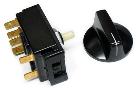 610560 Associated Rotary Selector Switch With Knob