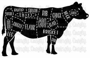 Beef Cow Meat Cut Chart Svg Png Studio Cuttable Quote For