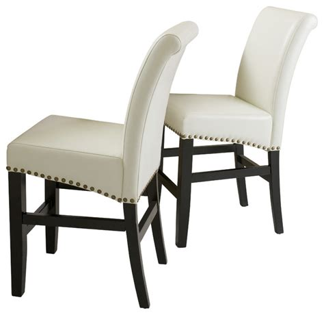 leather stools set of 2 ivory counter height