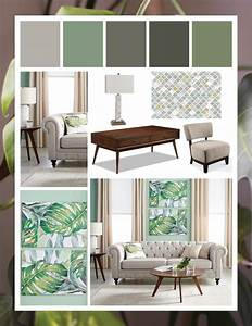 green, mood, board, perfect, for, modern, tropical, theme