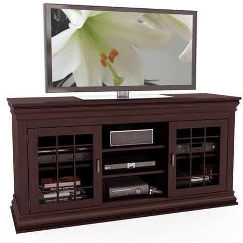 shaker cabinet kitchen entertainment center glass metal cabinet 60 quot wood veneer 2167