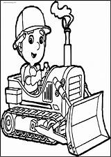 Coloring Bulldozer Printable Manny Wecoloring sketch template