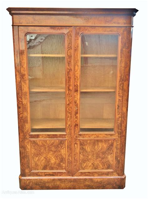 antique walnut bookcase   antiques atlas