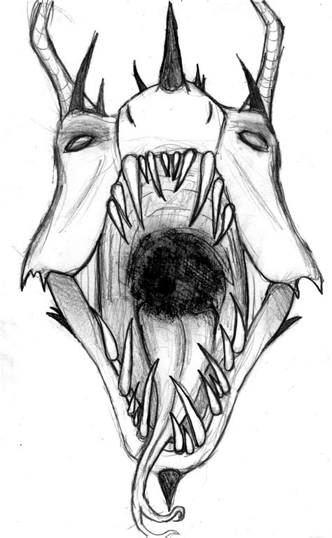 Evil Faces Tattoo Outlines For - demon face drawings. | Tatueringsidéer