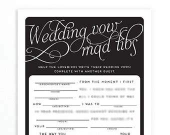 bridal shower mad libs funny shower game write  vows