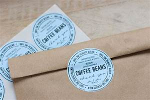 personalized coffee beans favor bag sticker by With coffee bag stickers