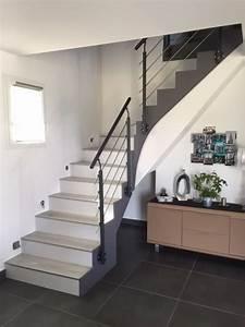 maytop tiptop habitat habillage descalier renovation With peindre les contremarches d un escalier en bois 0 contre marches peintes en gris interieur pinterest