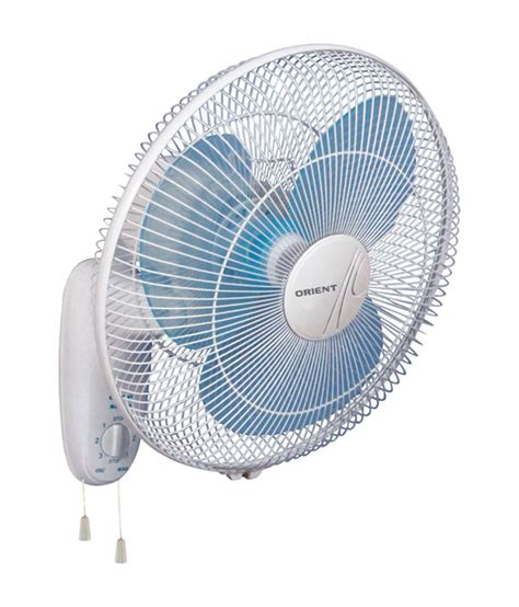 a fan com orient 400 mm wall 44 wall fan crystal white price in